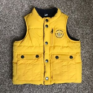 Baby Gap Reversible Yellow/Navy Cold Weather Vest